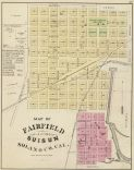 Map of Fairfield and Suisun, Solano County, CA. 1878