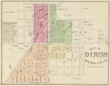 Map of Dixon, Solano County, CA. 1878